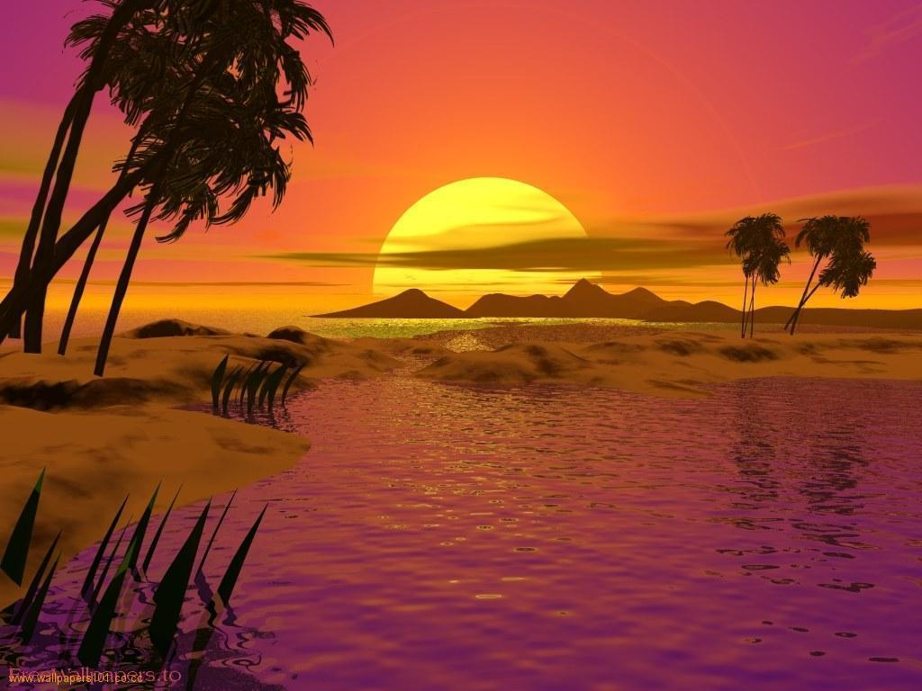 Sunset Wallpaper 45 Backgrounds | Wallruru.