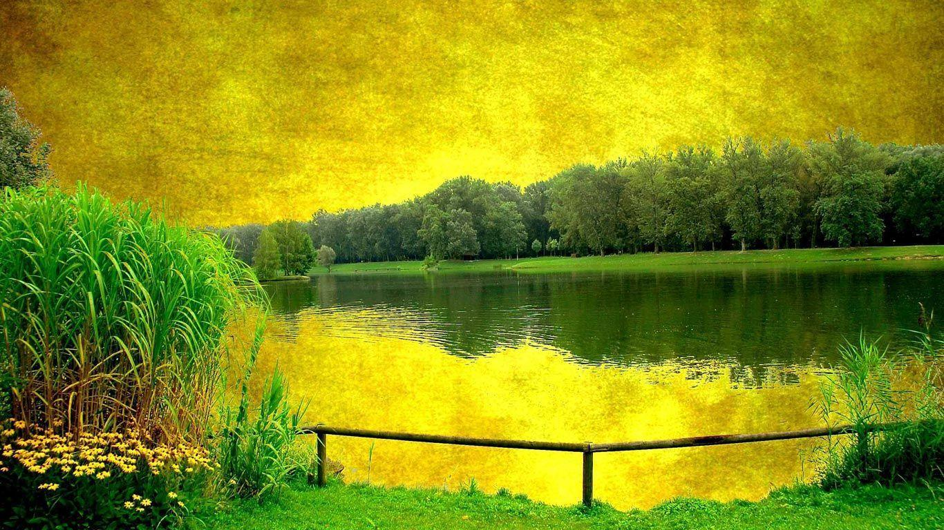 Landscape painting laptop 1366x768 | Free Background