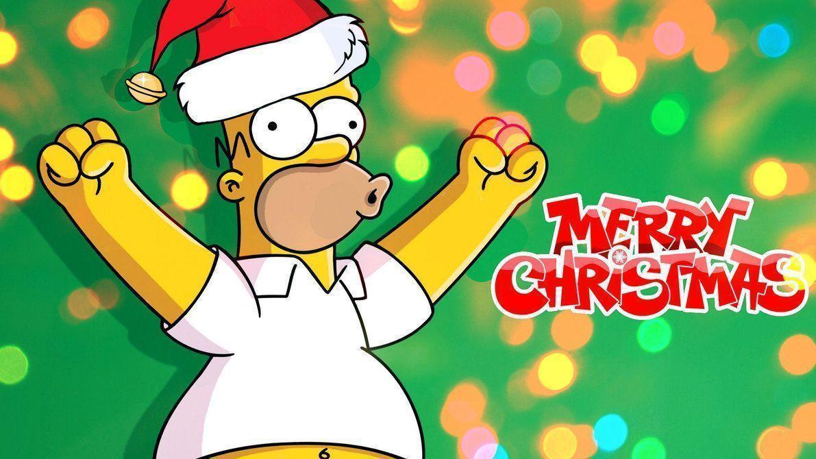 simpsons christmas wallpapers wallpaper cave