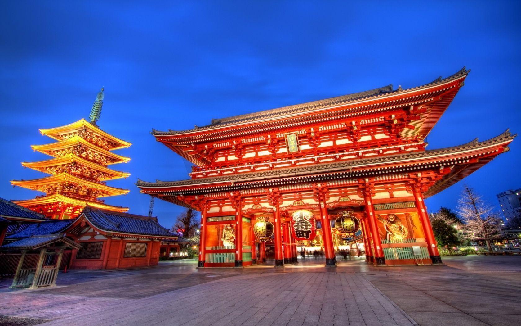 1680x1050 Sensoji temple tokyo Wallpaper
