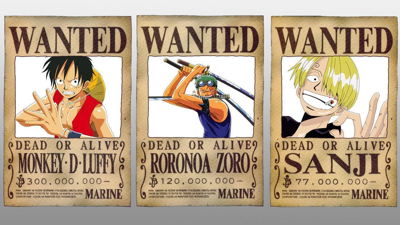 One Piece Wallpapers Wanted Wallpaper Cave