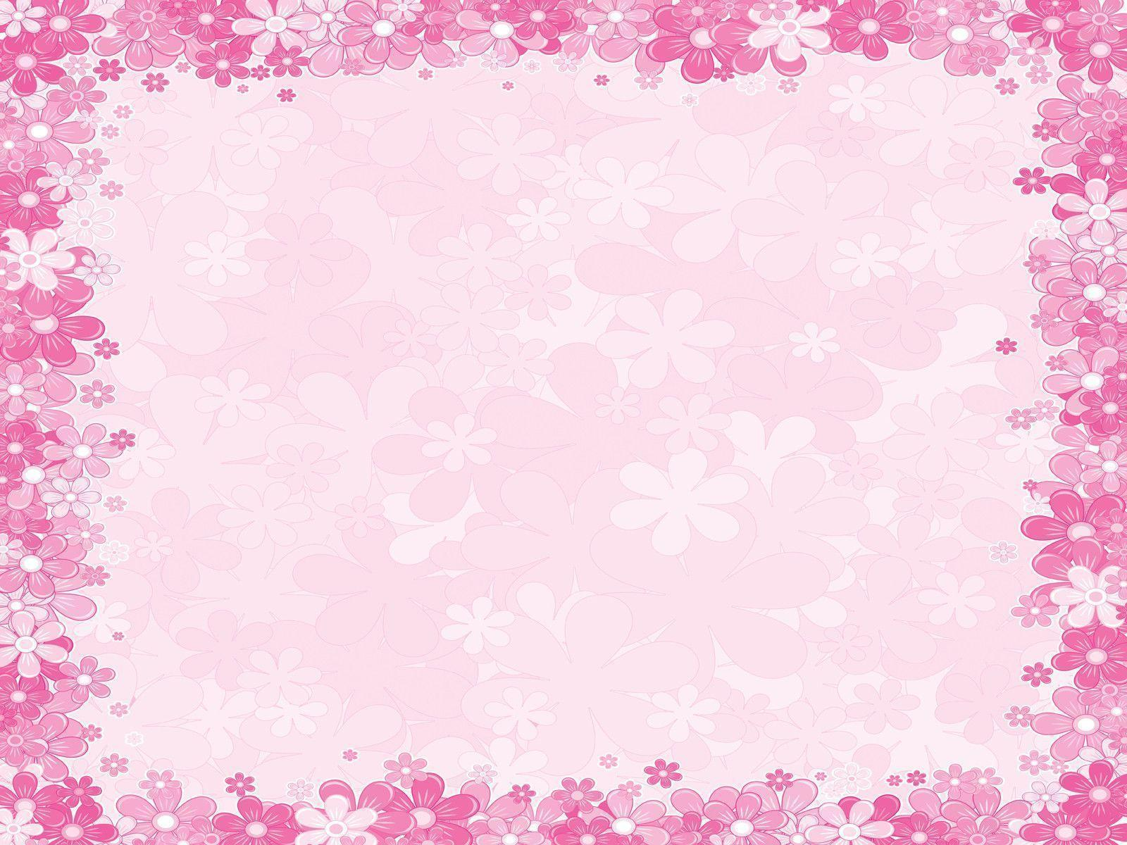 pink floral ppt backgrounds powerpoint backgrounds