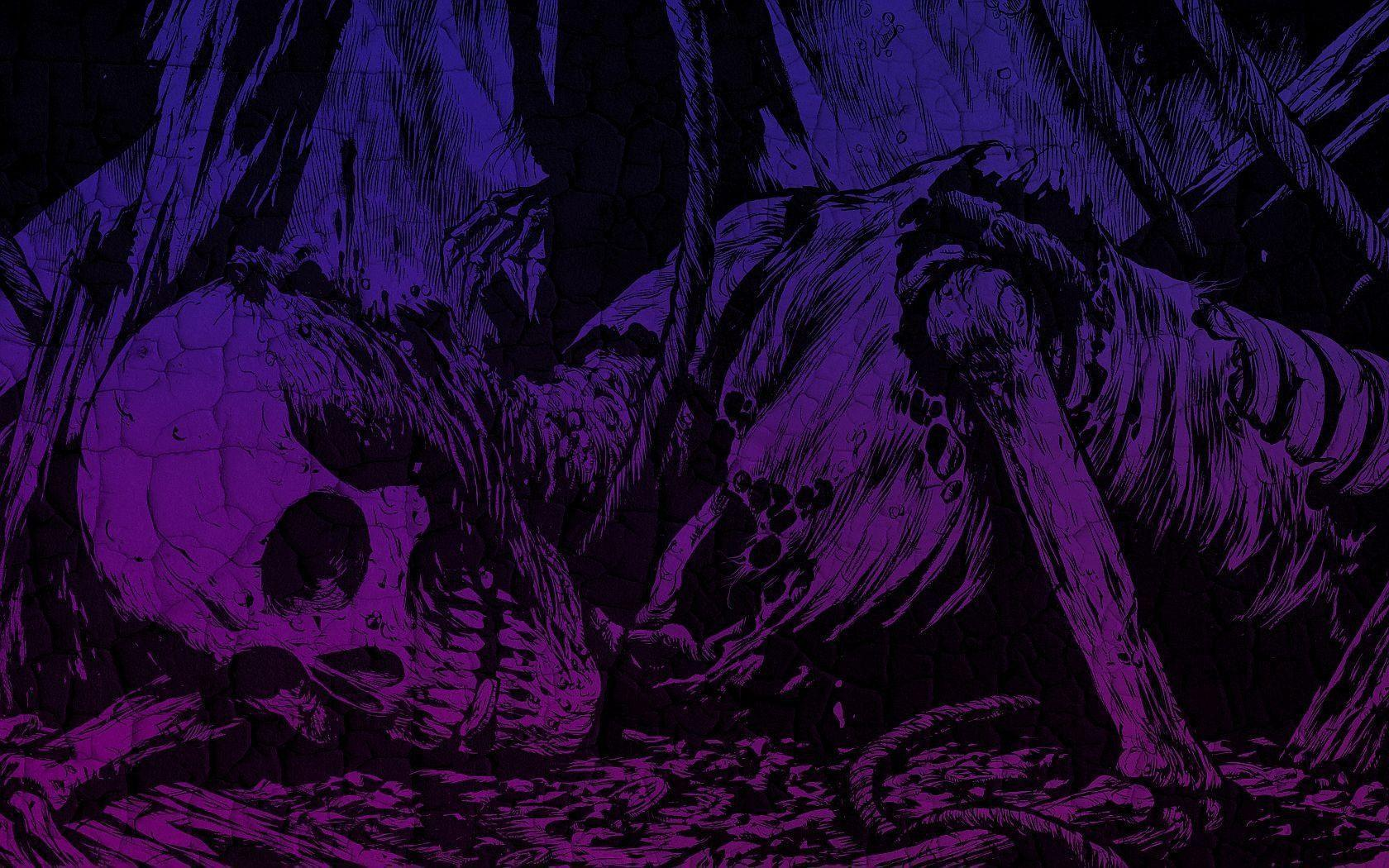 Purple Skull Wallpaper | Best Wallpaper HD