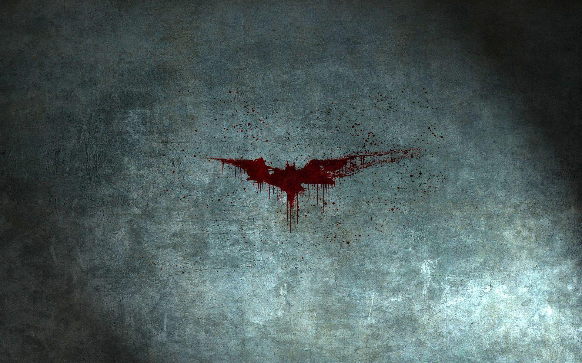 Free Batman Blood Logo desktop wallpaper 19201200