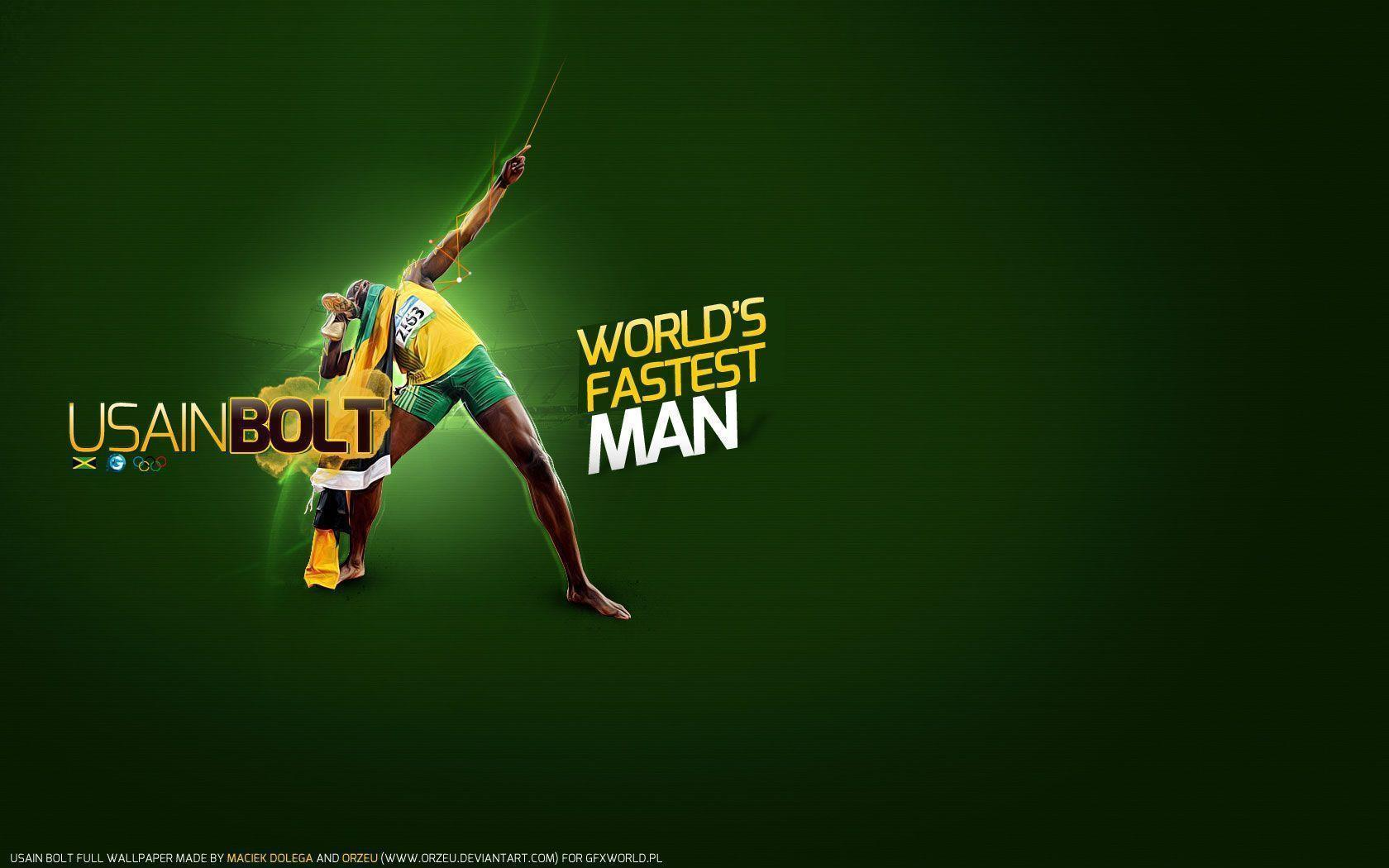 Free Wallpapers - Usain Bolt 1680x1050 wallpaper