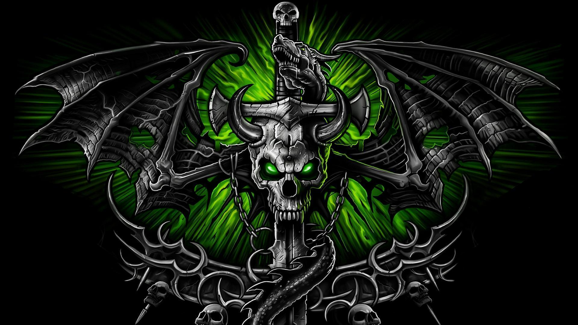 cool rock skull live wallpaper-#26