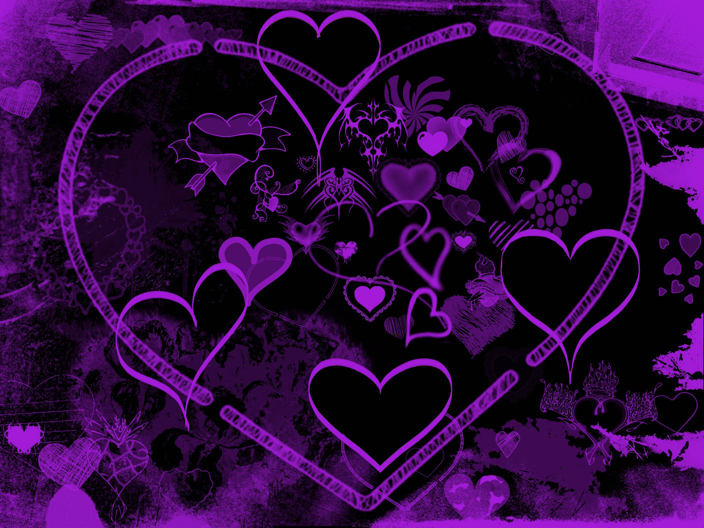 Purple Hearts Wallpapers  Wallpaper Cave