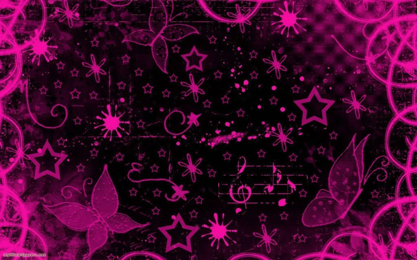 Pink And Black Backgrounds Remar