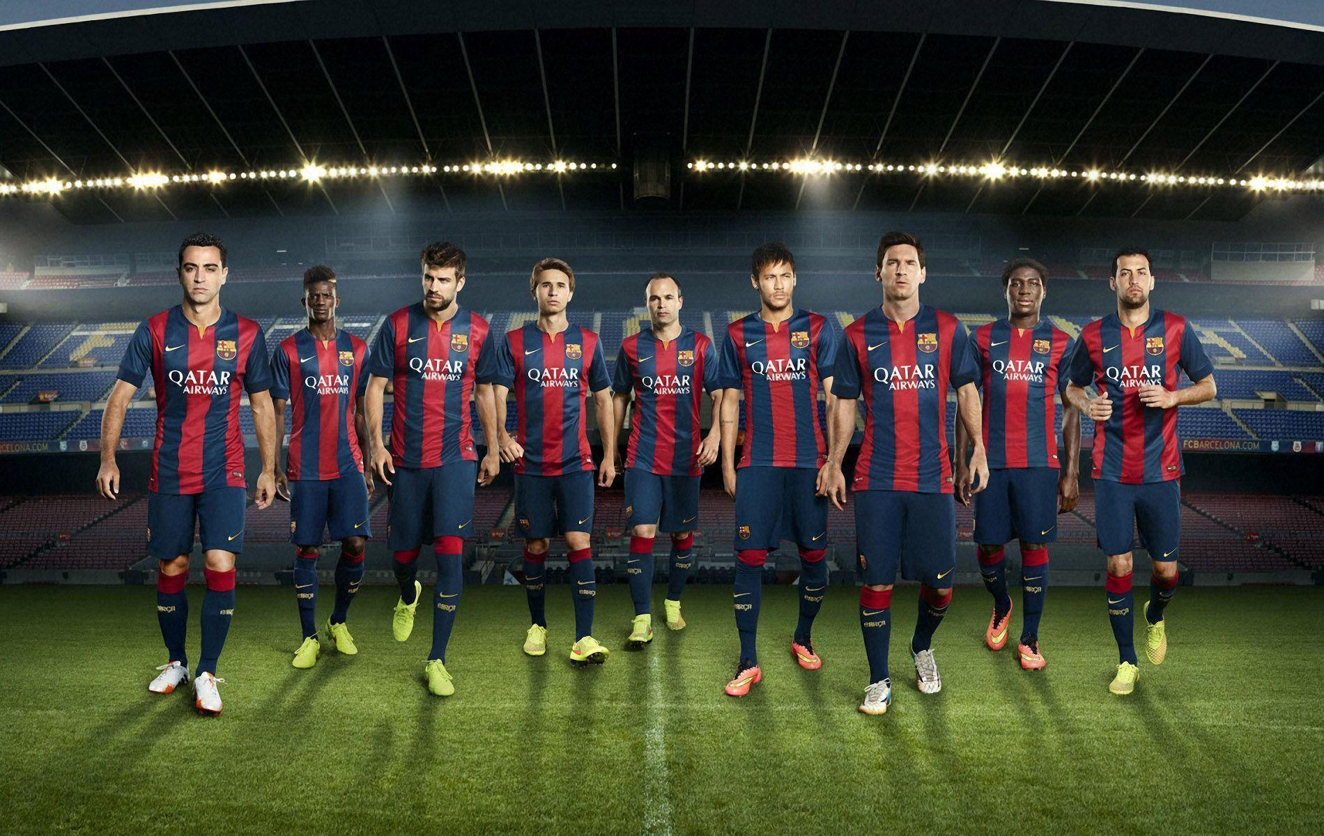 FC Barcelona 2014-2015 New Nike Home Kit Wallpaper Wide or HD ...