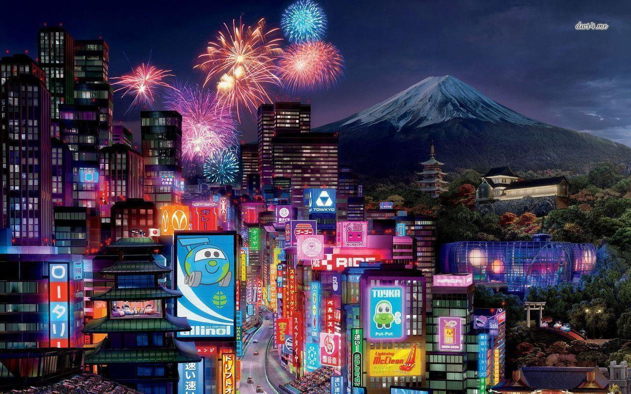 Tokyo - Cars 2 wallpaper - Cartoon wallpapers - #