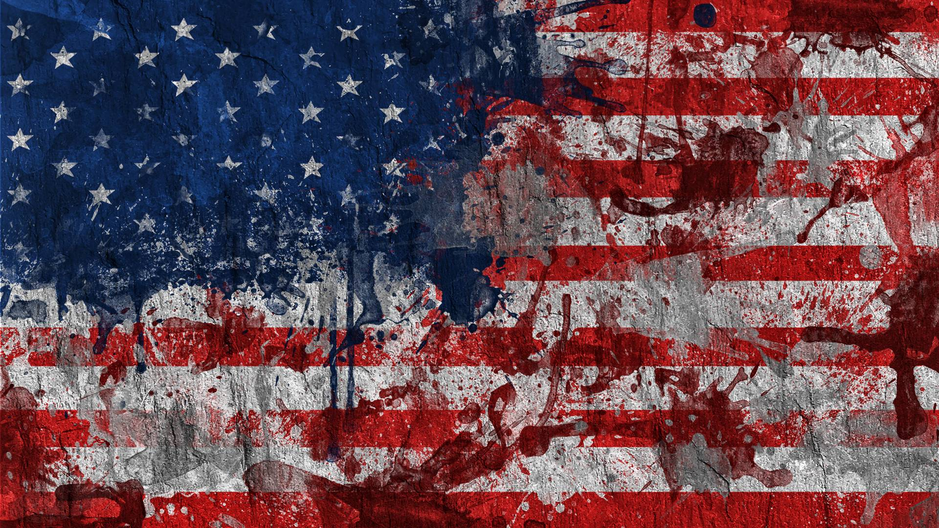 Hd wallpaper usa flag - Dirty Painting American Flag Exclusive Hd Wallpapers 5329