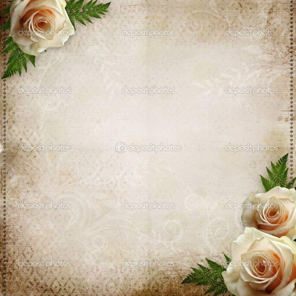 rose wedding invitation background - photo #32