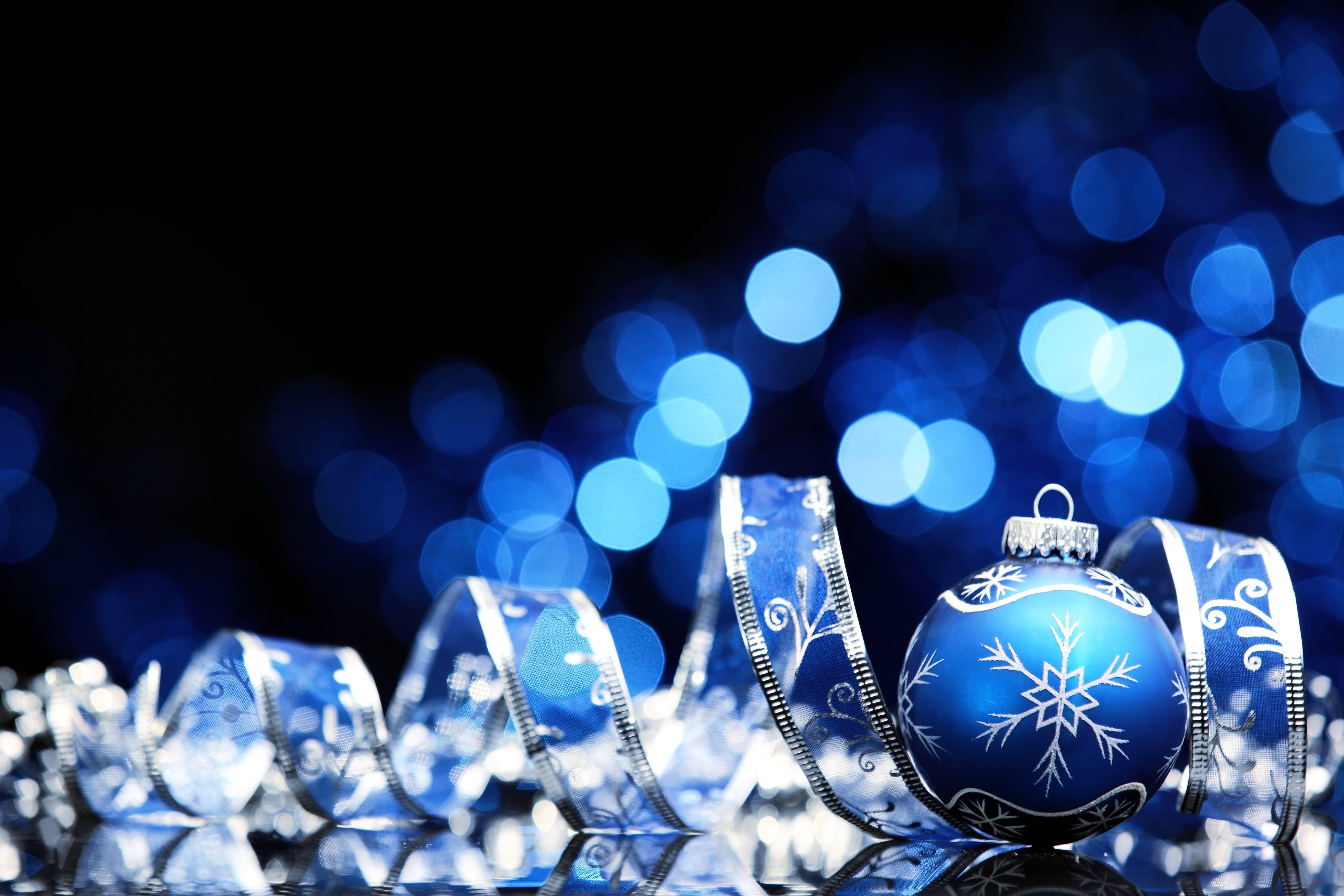Blue Christmas Wallpaper photos