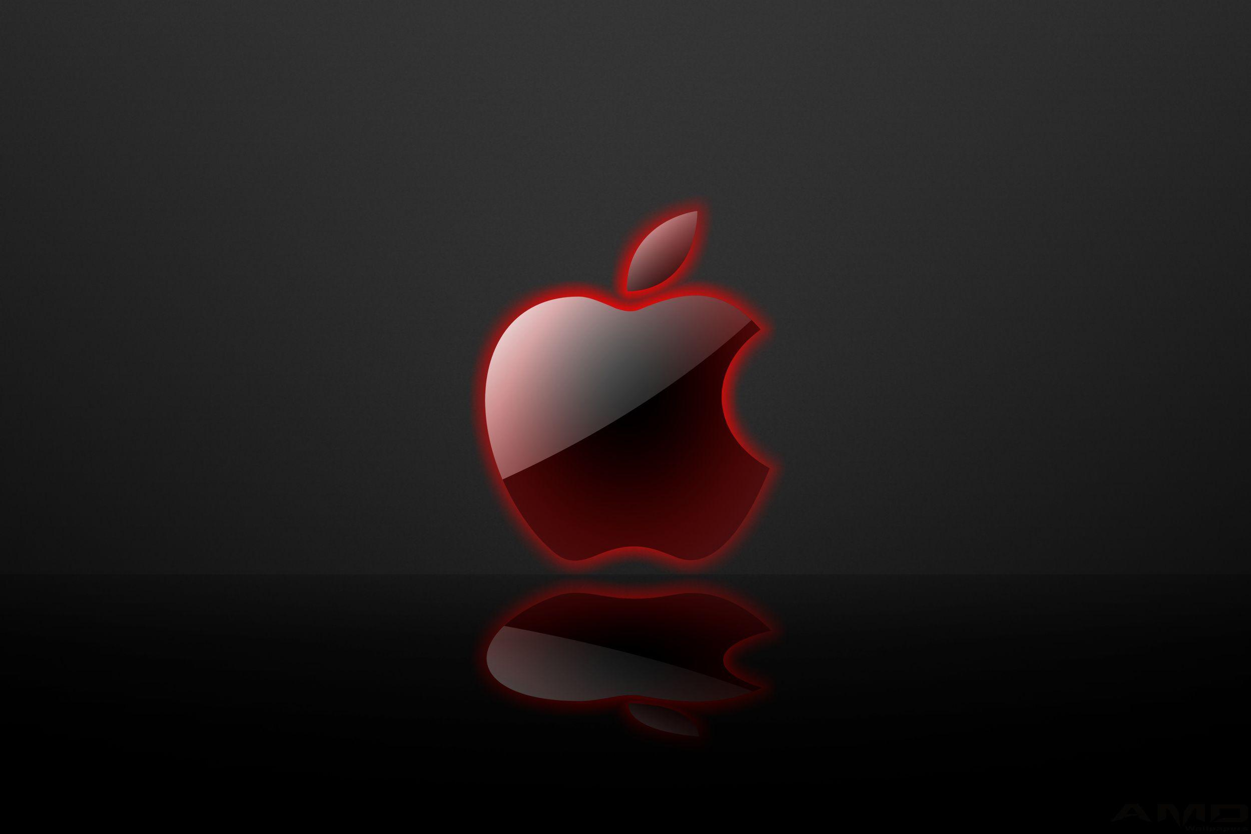 Image For > Red Apple Logo Wallpapers