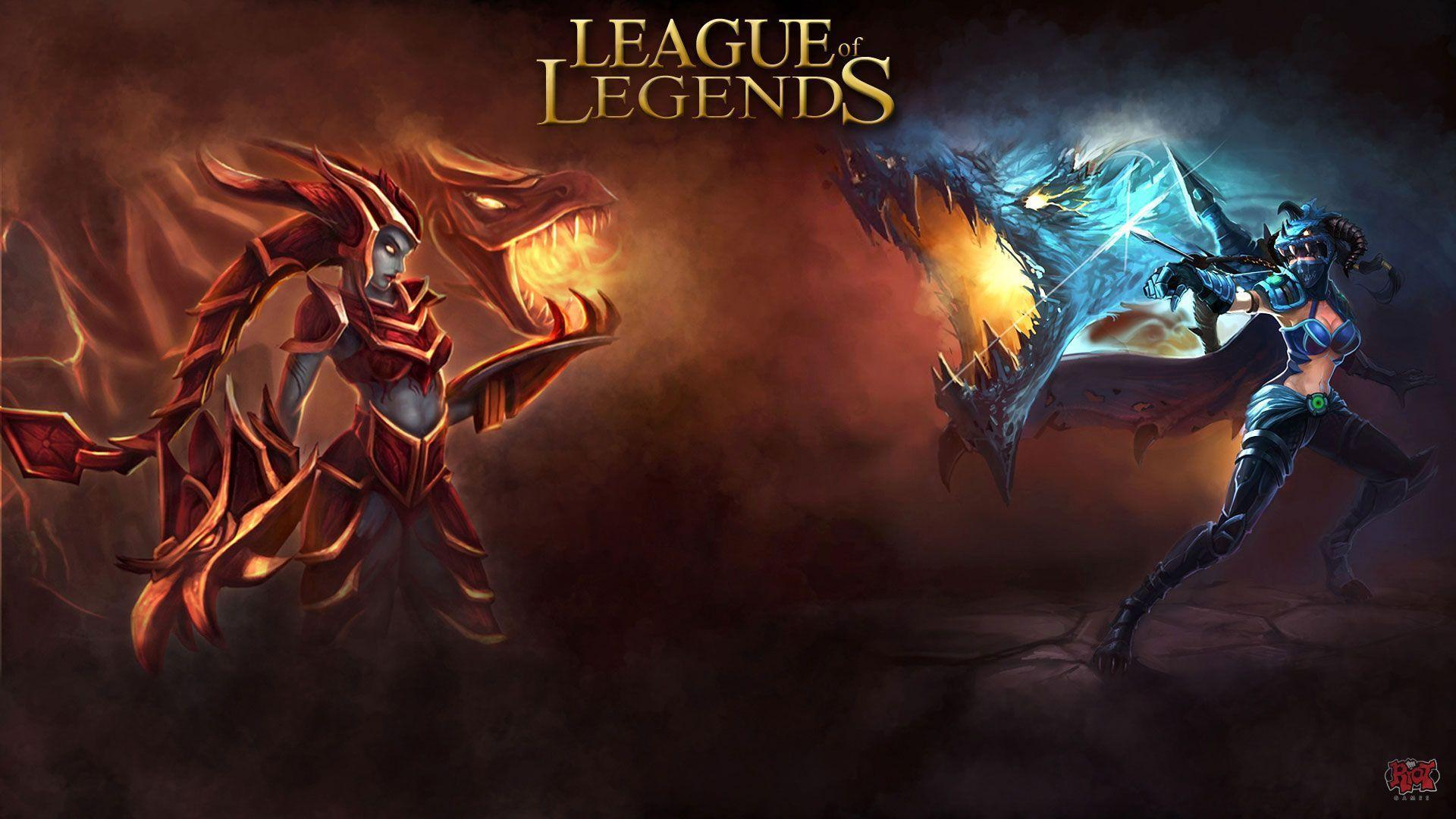 Lol wallpapers vayne shyvana games backgrounds wallpapers 1920x1080