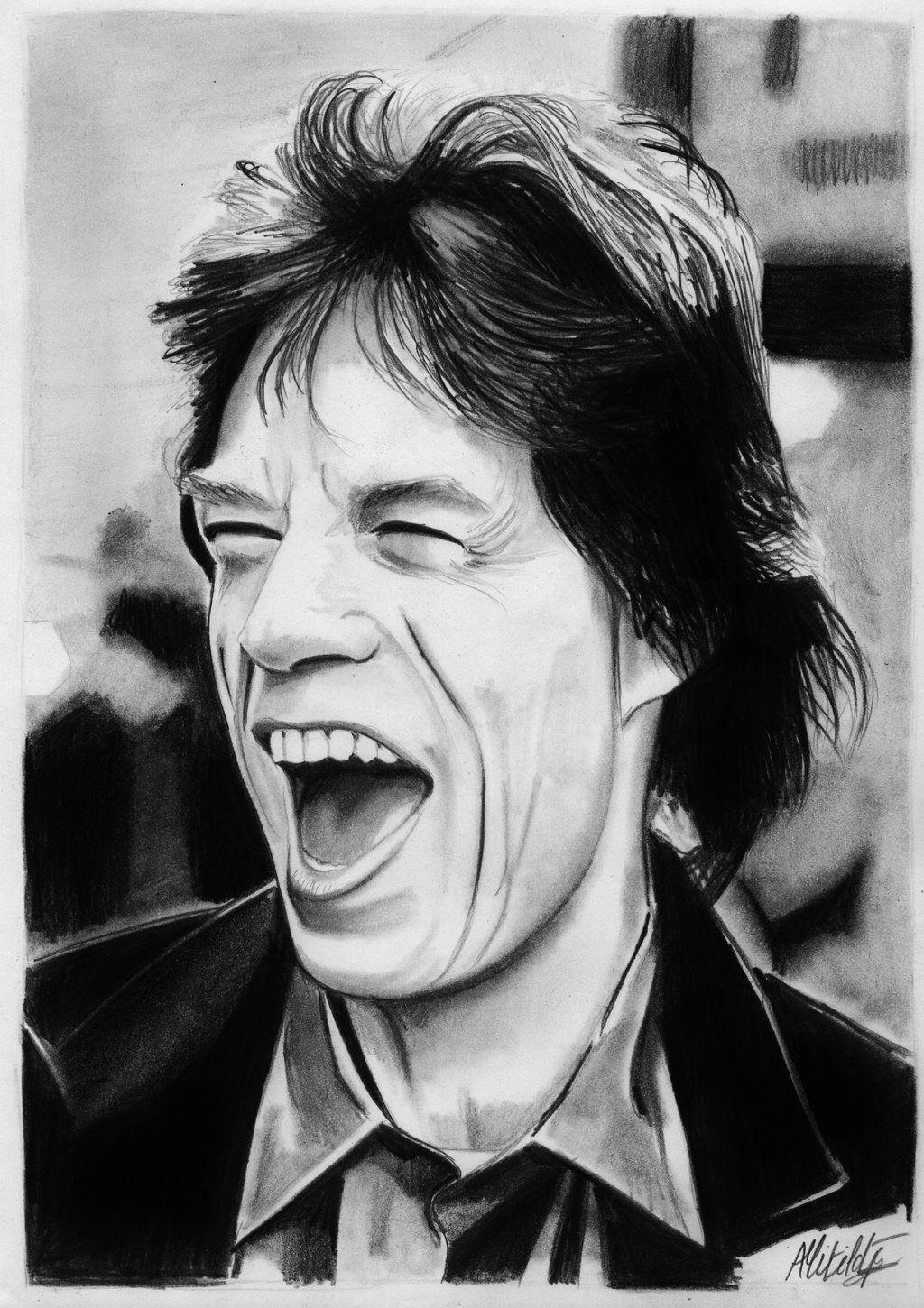 Mick Jagger drawing by alainmi on DeviantArt