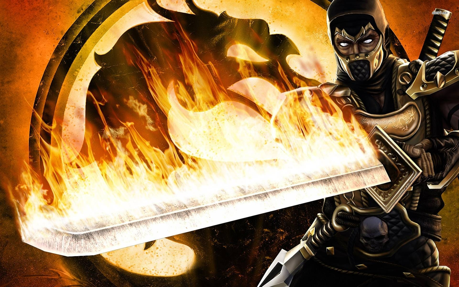 mortal kombat scorpion wallpapers - wallpaper cave