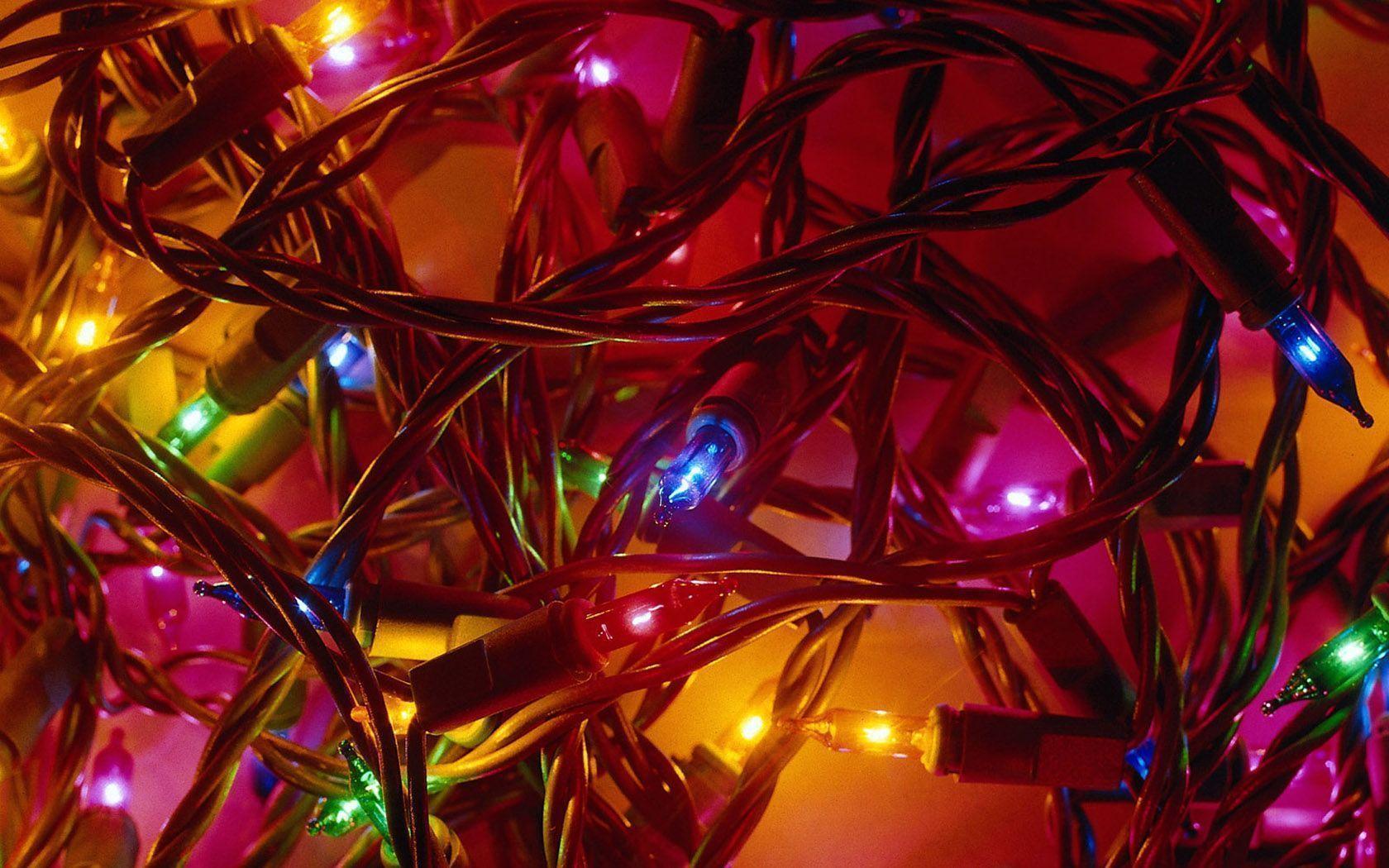 Christmas Lights Desktop Wallpapers - Wallpaper Cave
