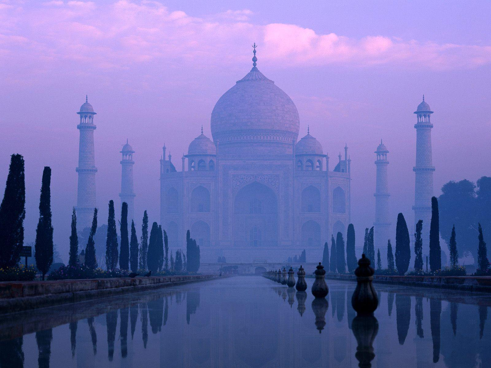 World Famous Places Wallpapers - Taj Mahal - Agra - India - Free ...
