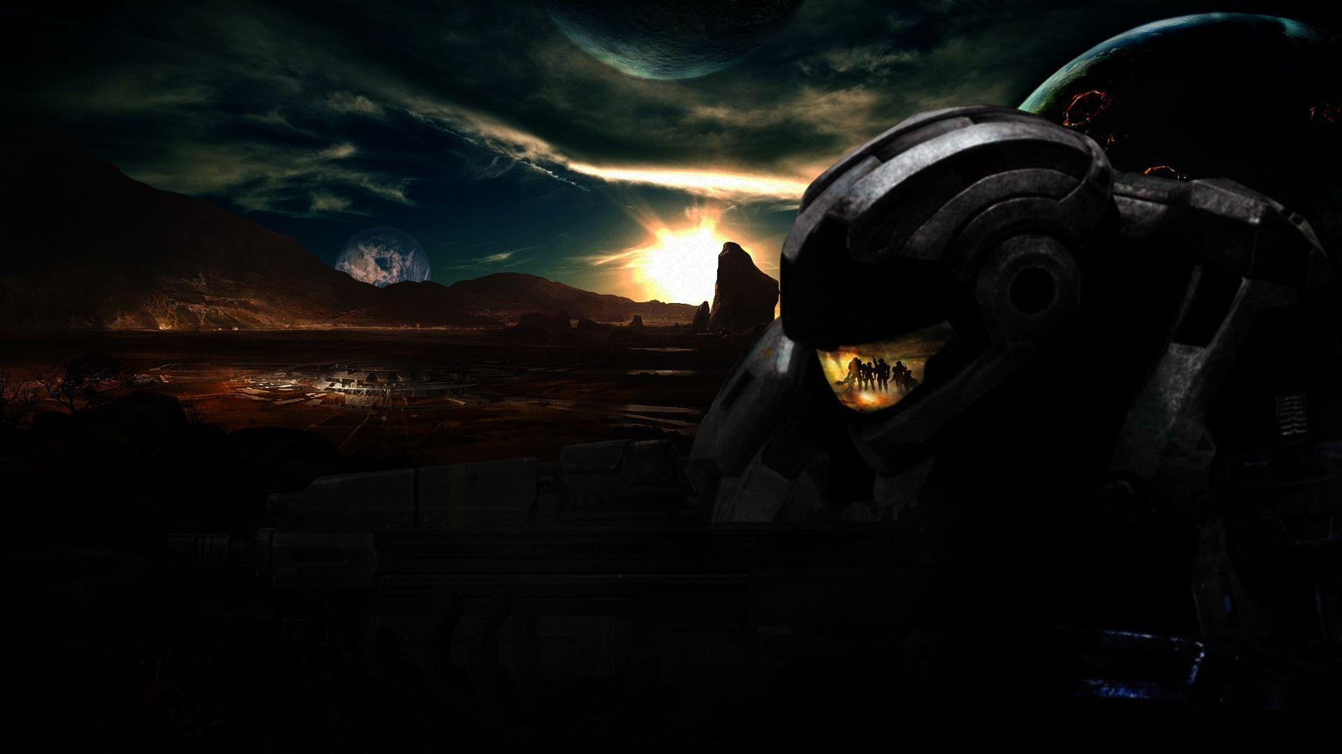 Halo reach backgrounds desktop backgrounds rising image video