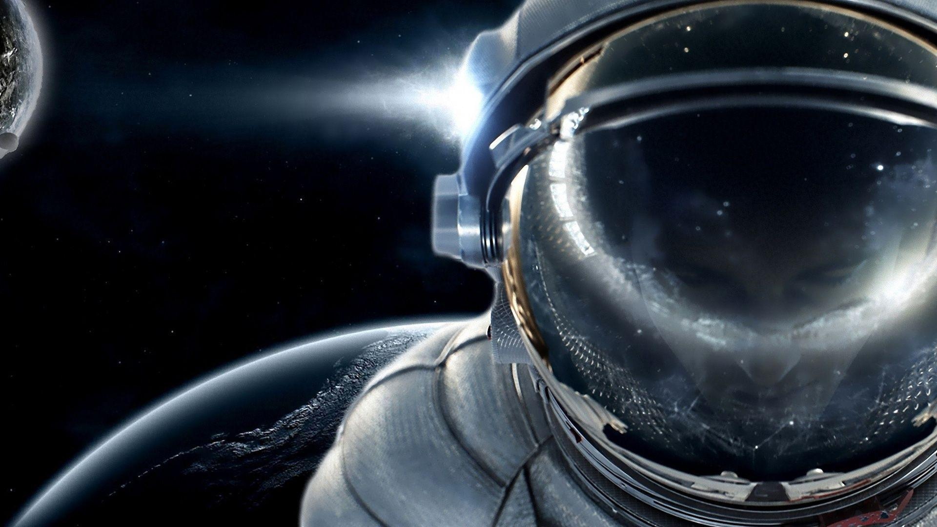 cool astronaut in space - photo #21