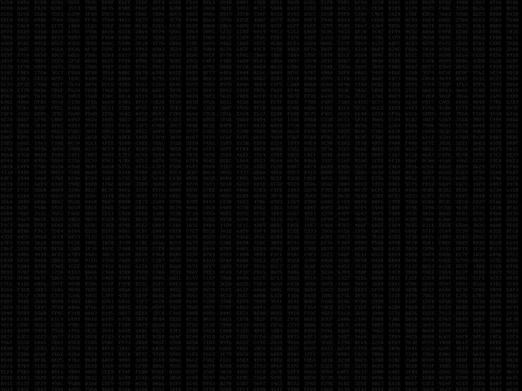 hexadecimal backgrounds dk.gray on black 1600x1200 by gary