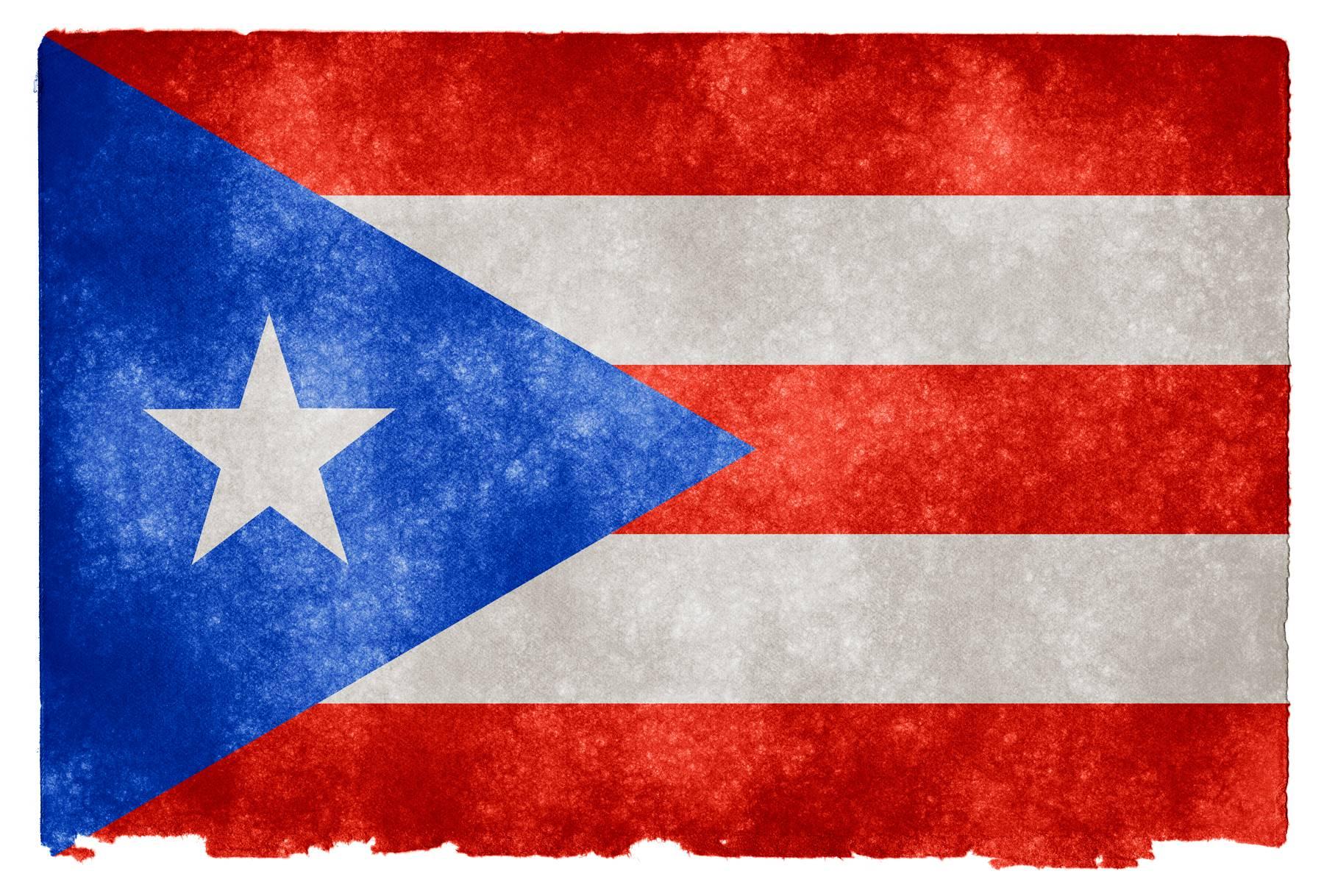 Puerto Rico Grunge Flag