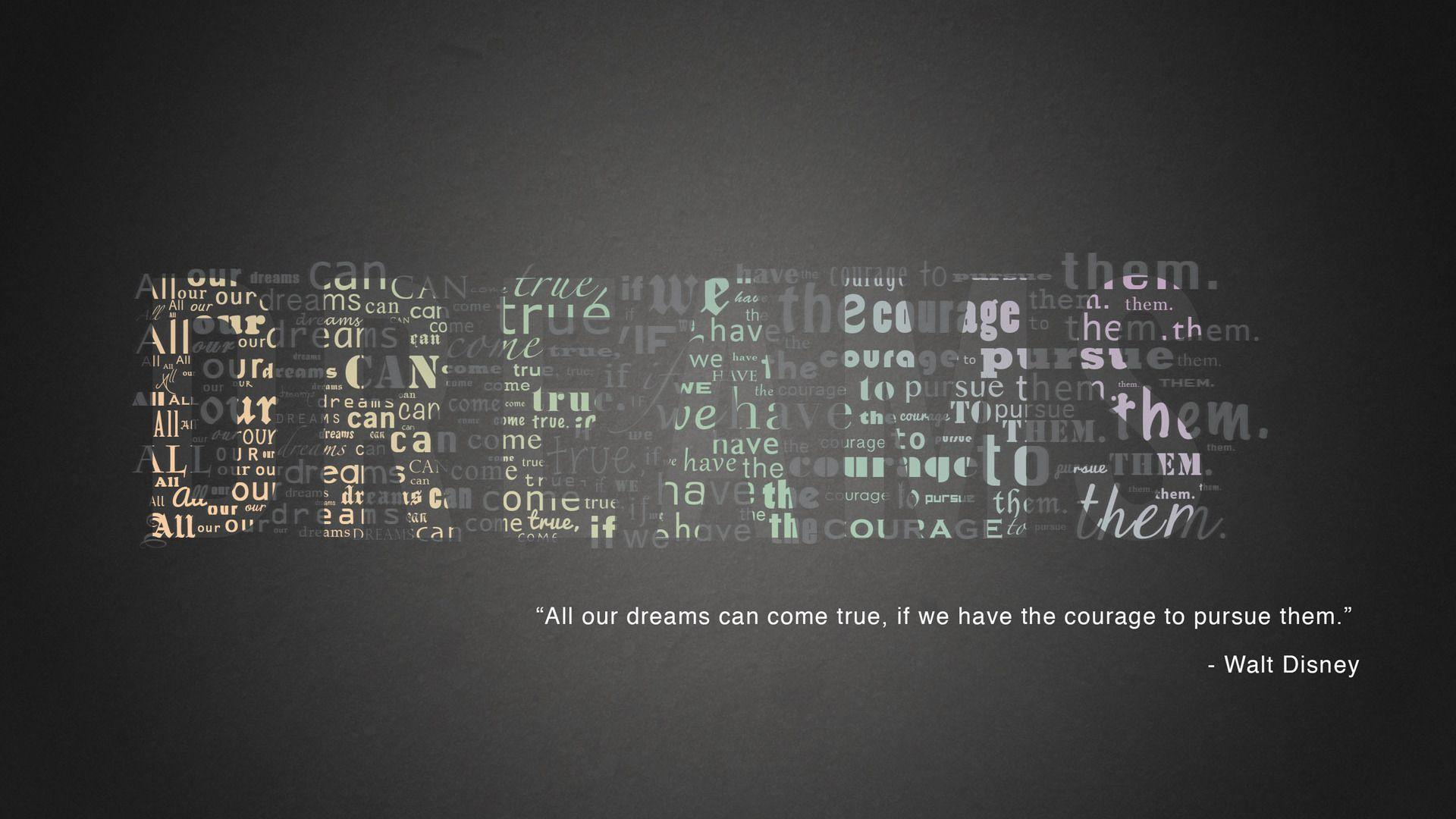 Hd wallpaper quite - Walt Disney Quote Quote Hd Wallpaper 1920x1080 9802 Quotes
