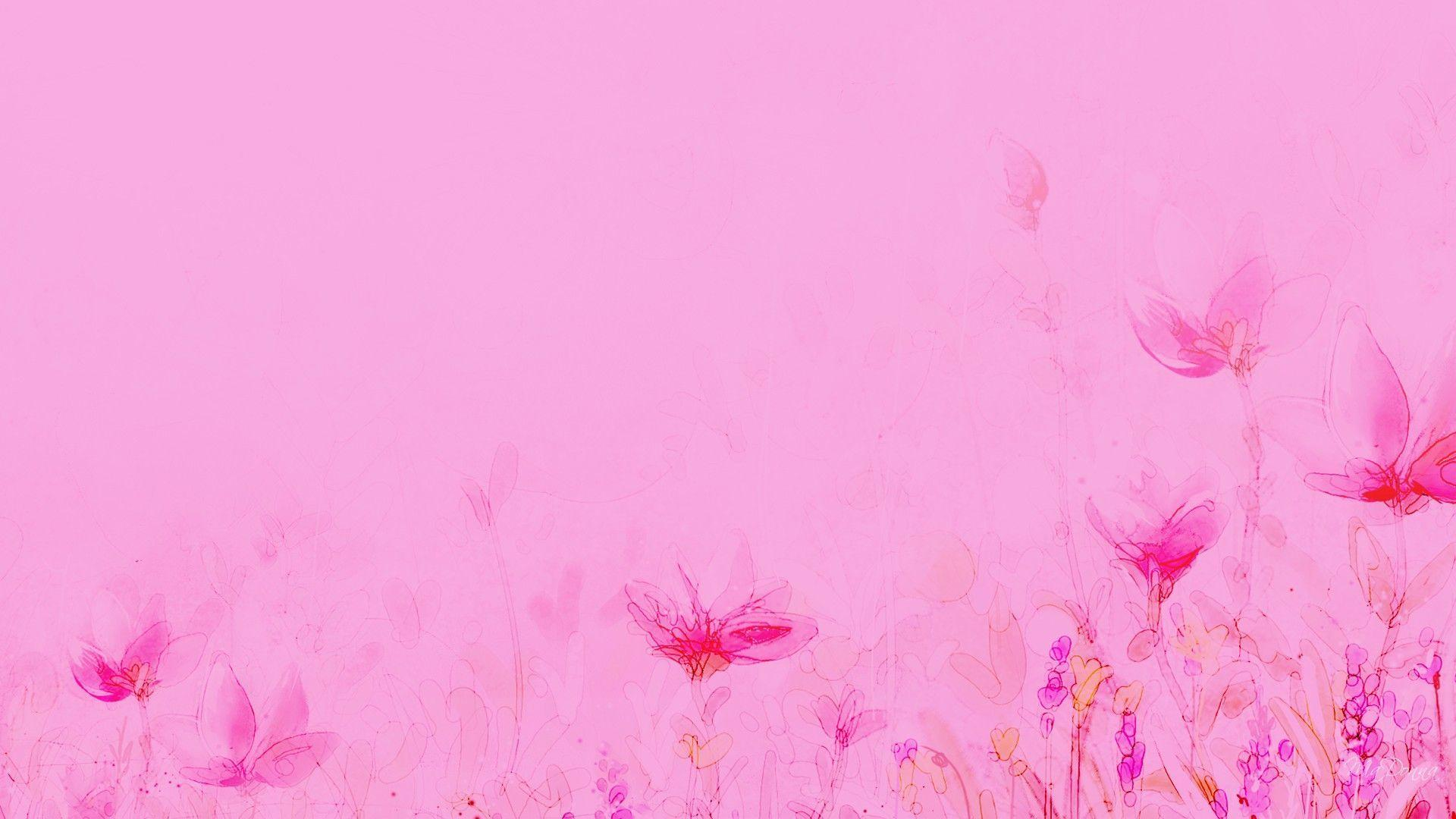 light pink floral background - photo #18