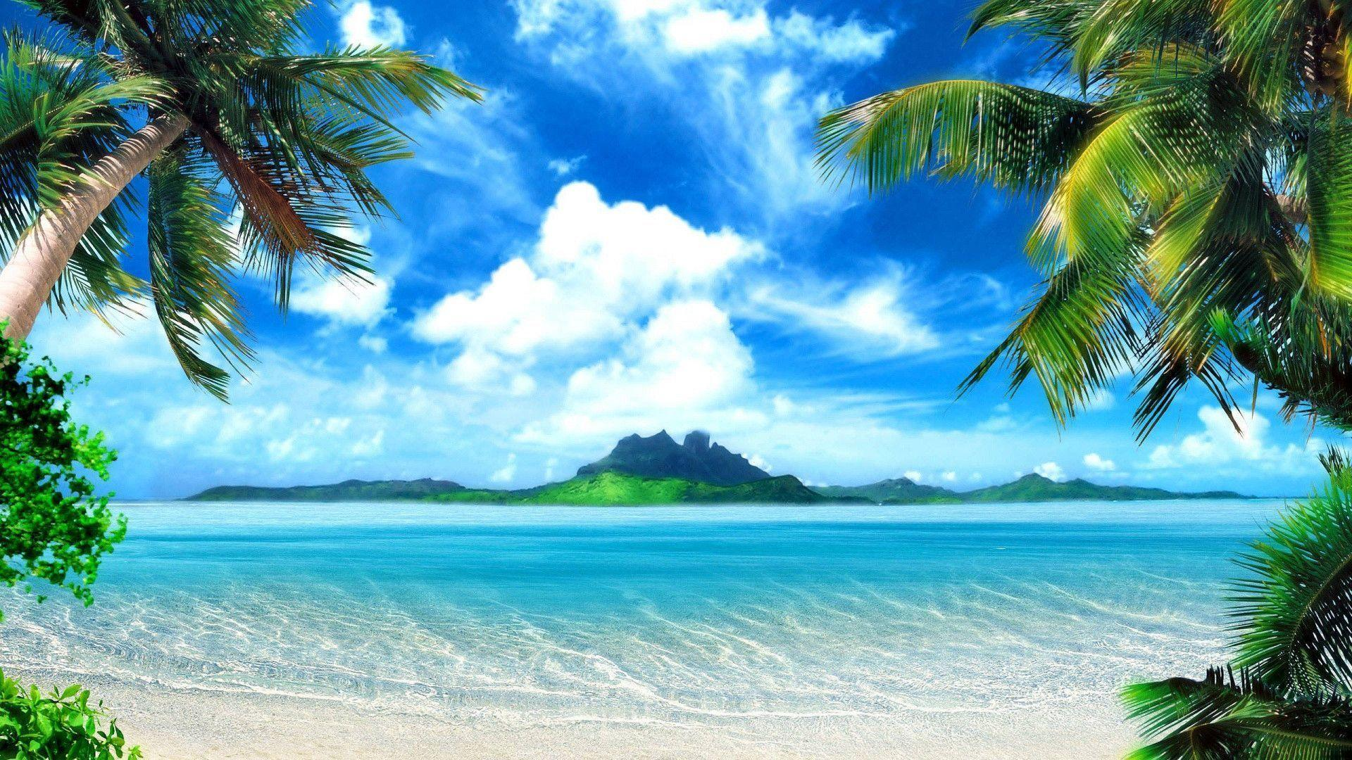 1920x1080 Tropical Beach Backgrounds Wallpapers