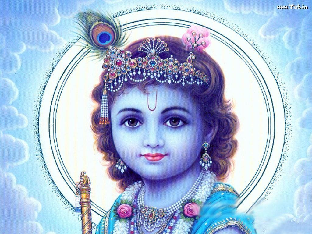 Spiritual | Lord Krishna In Blue | Lord Krishna Wallpapers - yah.in
