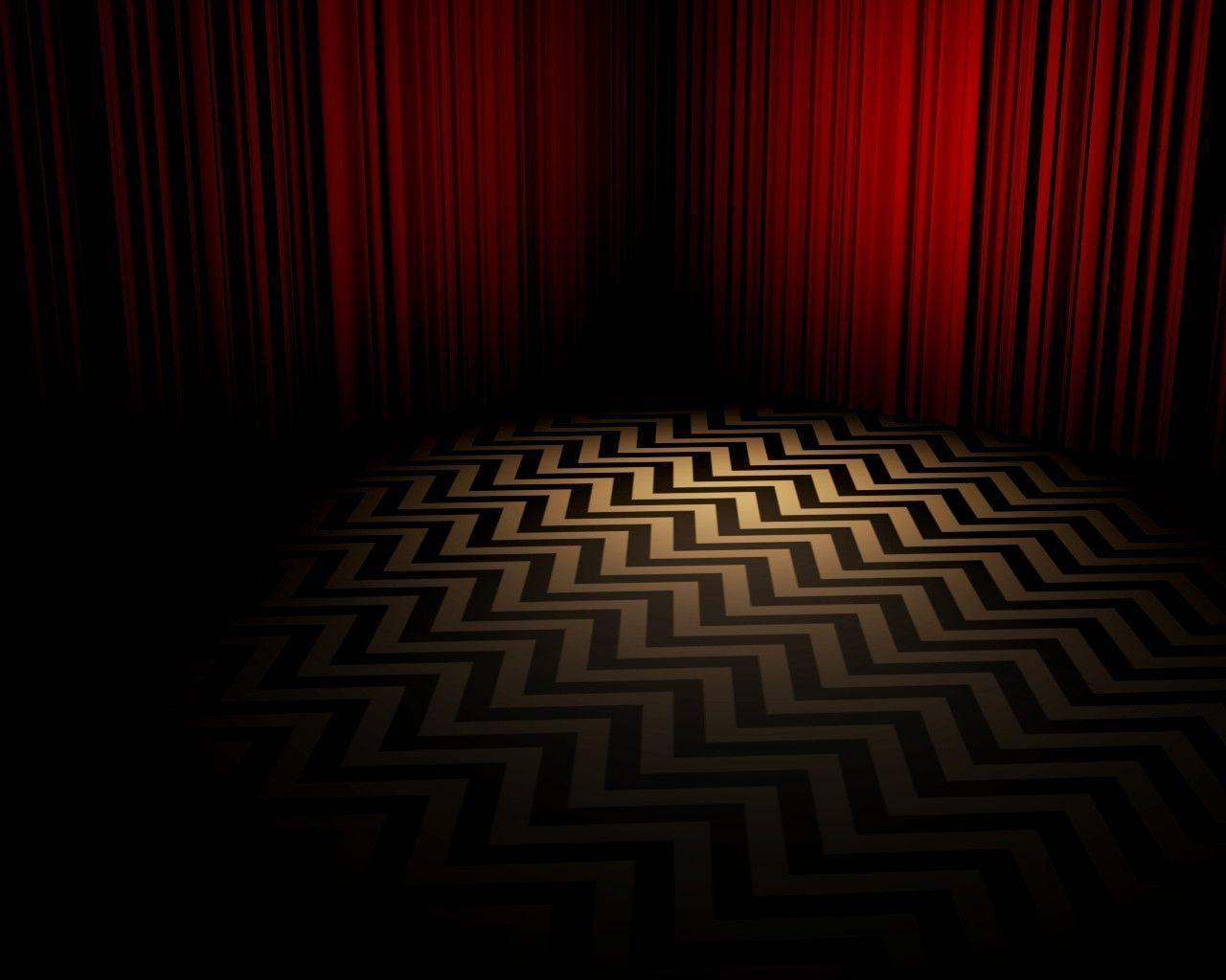 Twin peaks wallpapers wallpaper cave for Black room wallpaper