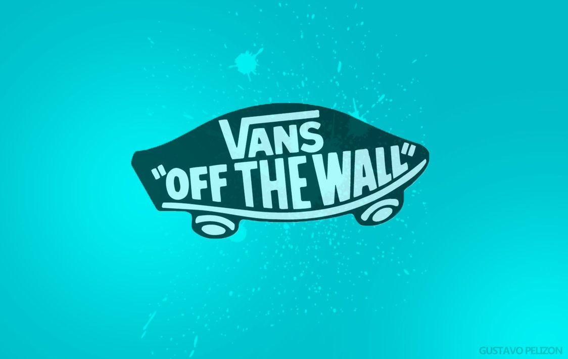 Blue Vans Off The Wall Logo Wallpaper HD Picture Desktop PC - Wallumi
