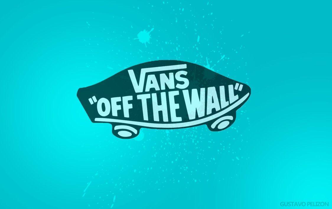 Blue Vans Off The Wall Logo Wallpaper HD Picture Desktop PC - Wallumi