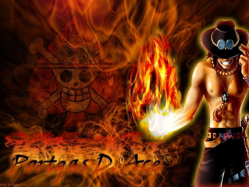 Wallpapers For > One Piece Ace Wallpapers Hd