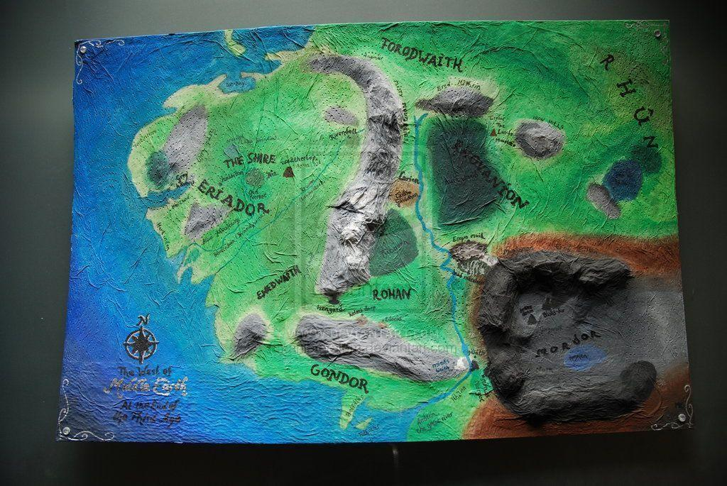 Map Of Middle Earth Wallpapers Wallpaper Cave – 3d Map of Middle Earth