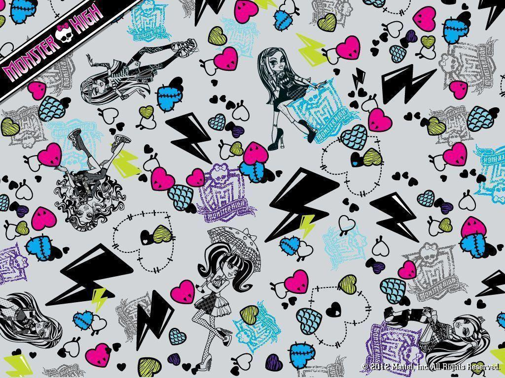 Monster High Collage Wallpaper 1024x768 - Monster High Wallpaper .