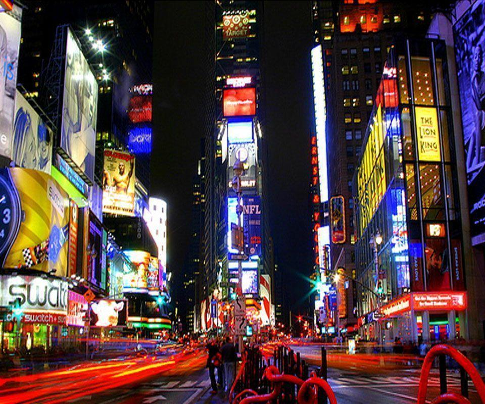 Gallery For > Times Square At Night Wallpaper