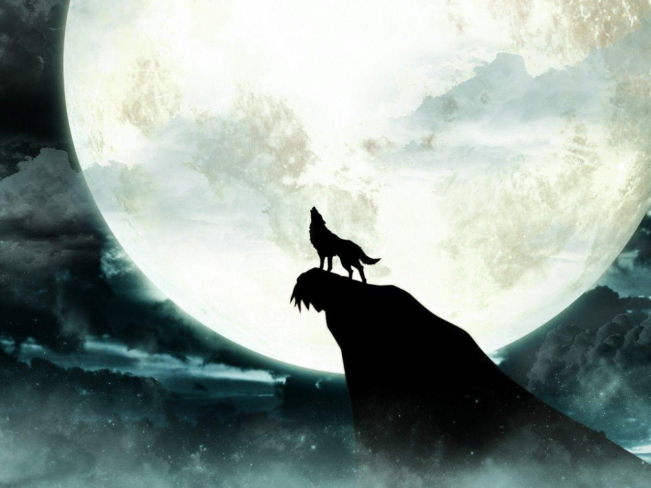 black wolf howling wallpaper - photo #4