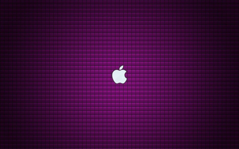 1440x900 Purple Mac Logo Wallpaper