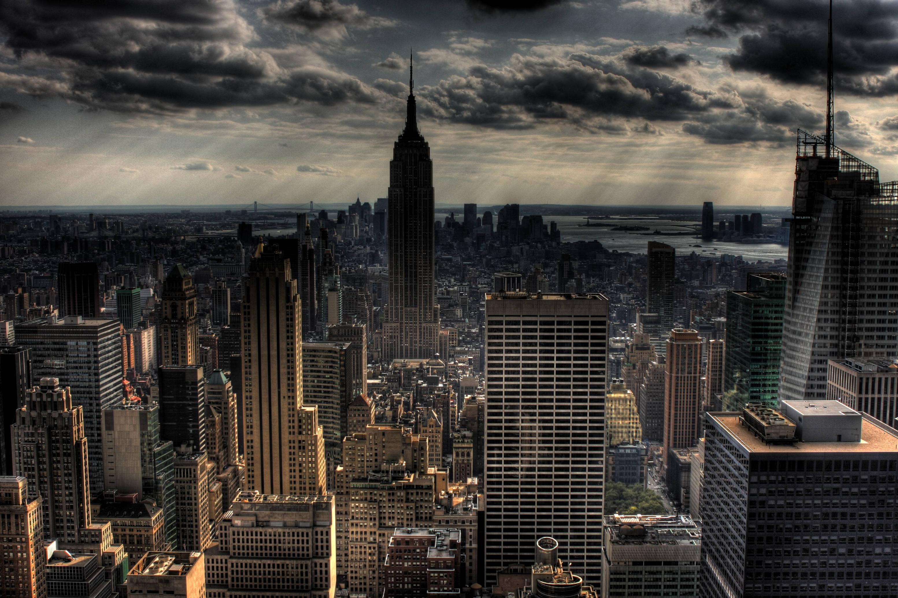 Download gotham city background new york city skyline hdr desktop ...
