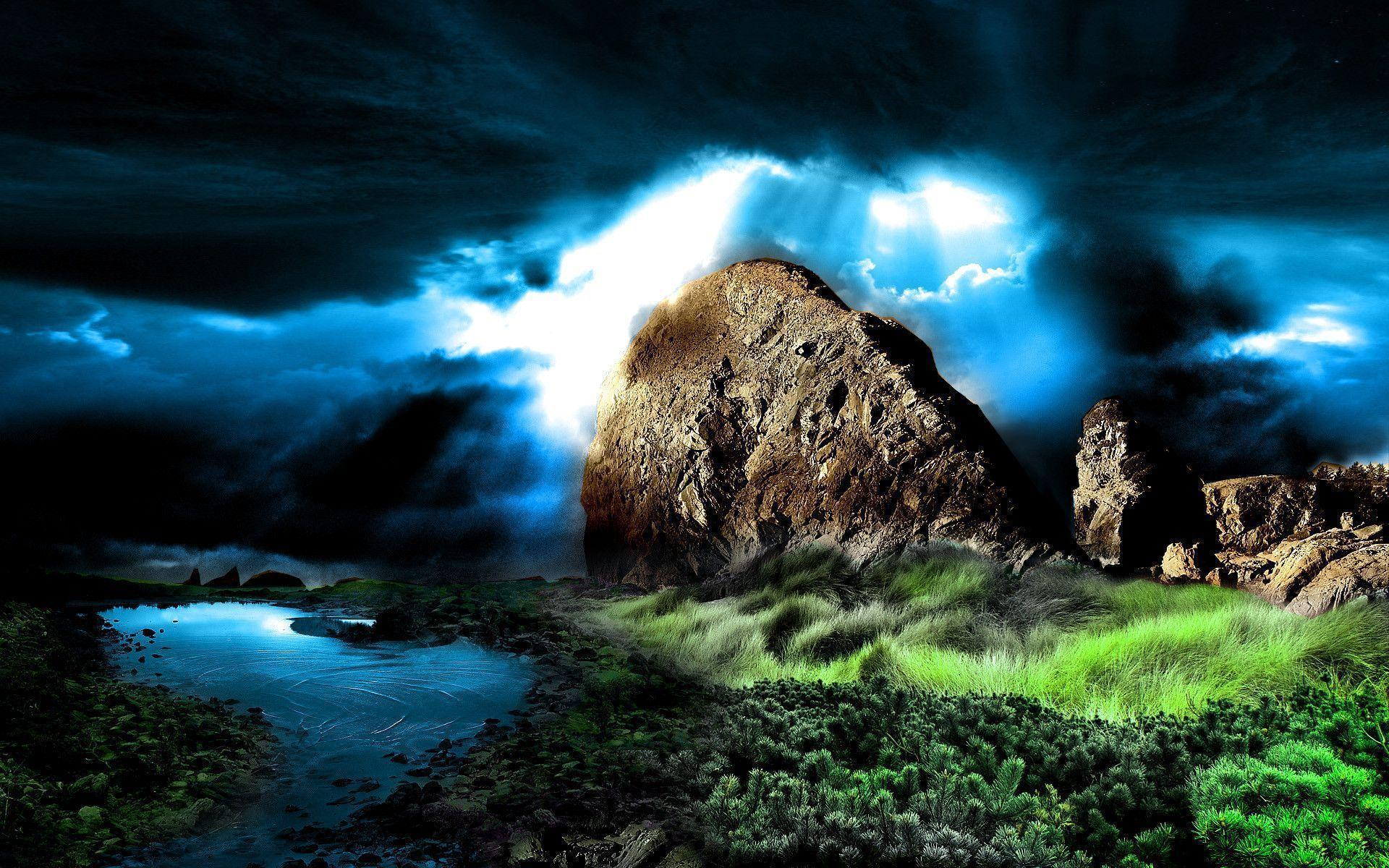 Wallpapers For > 3d Nature Wallpapers Widescreen