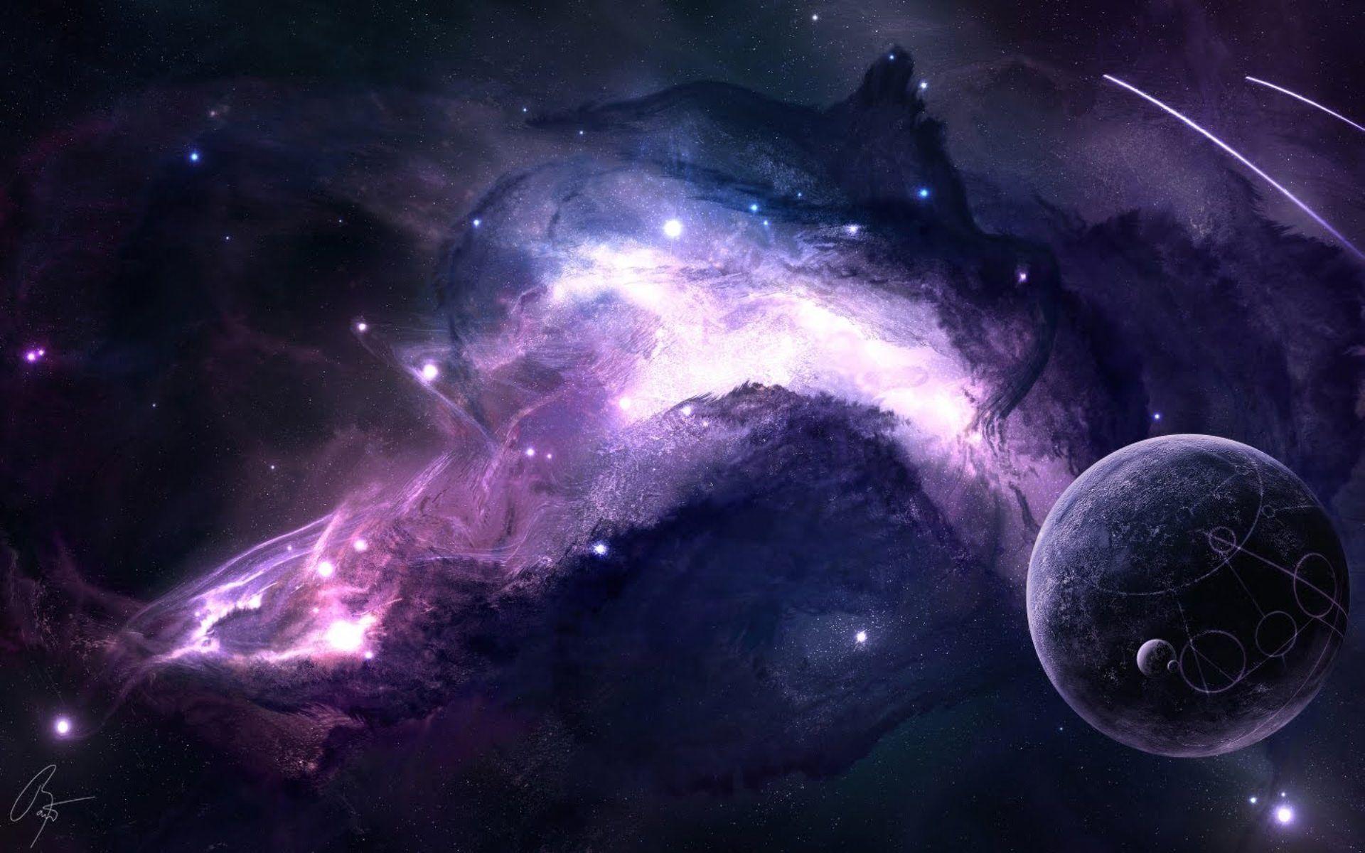 hd purple galaxy wallpaper - photo #9