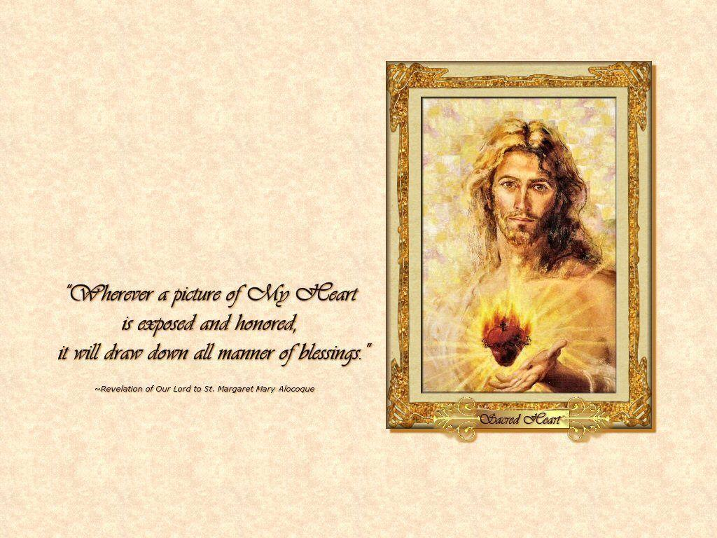 Image For > Sacred Heart Of Jesus And Mary Wallpapers