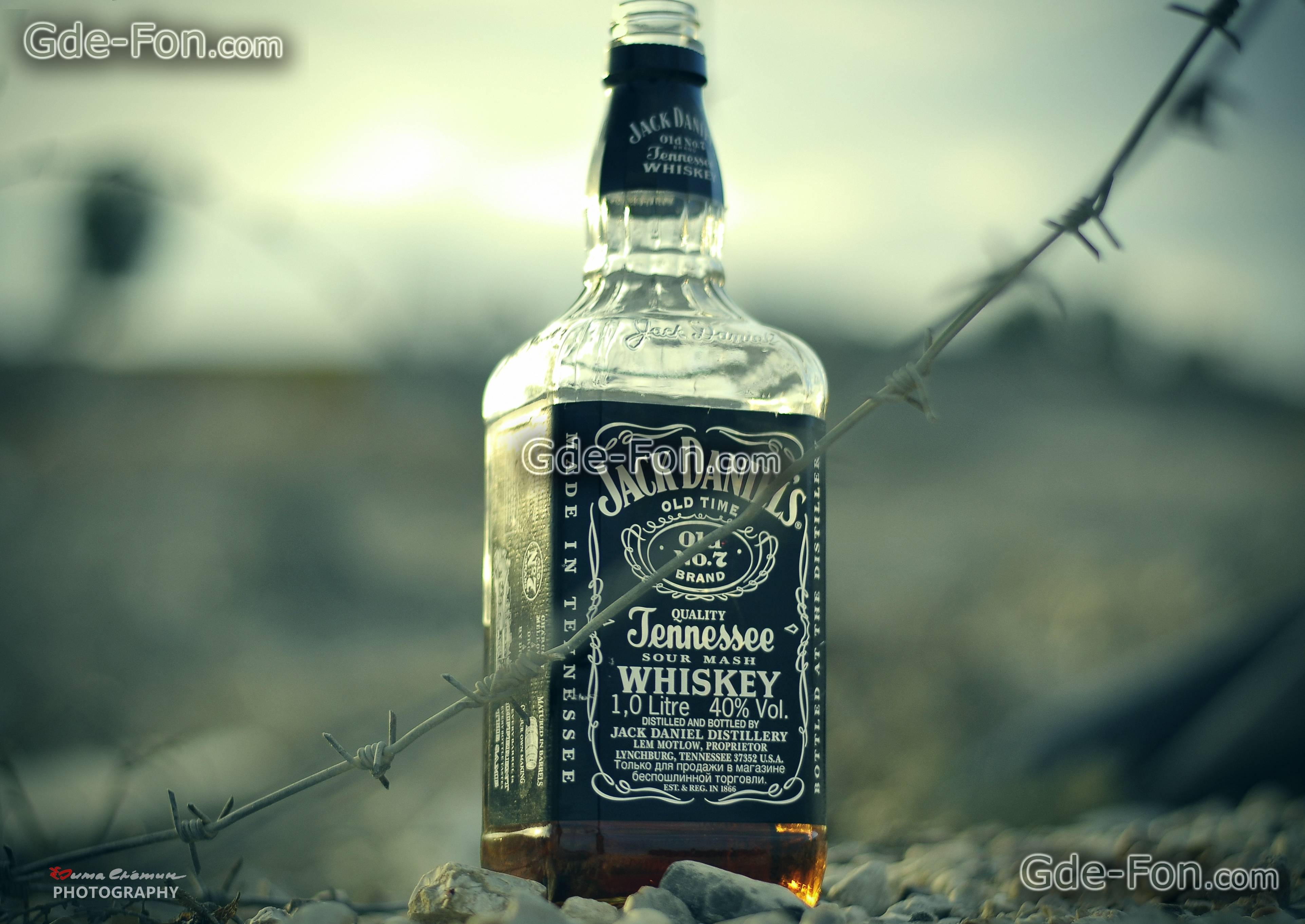 Download wallpapers jack daniels, whiskey, barbed wire, desert free