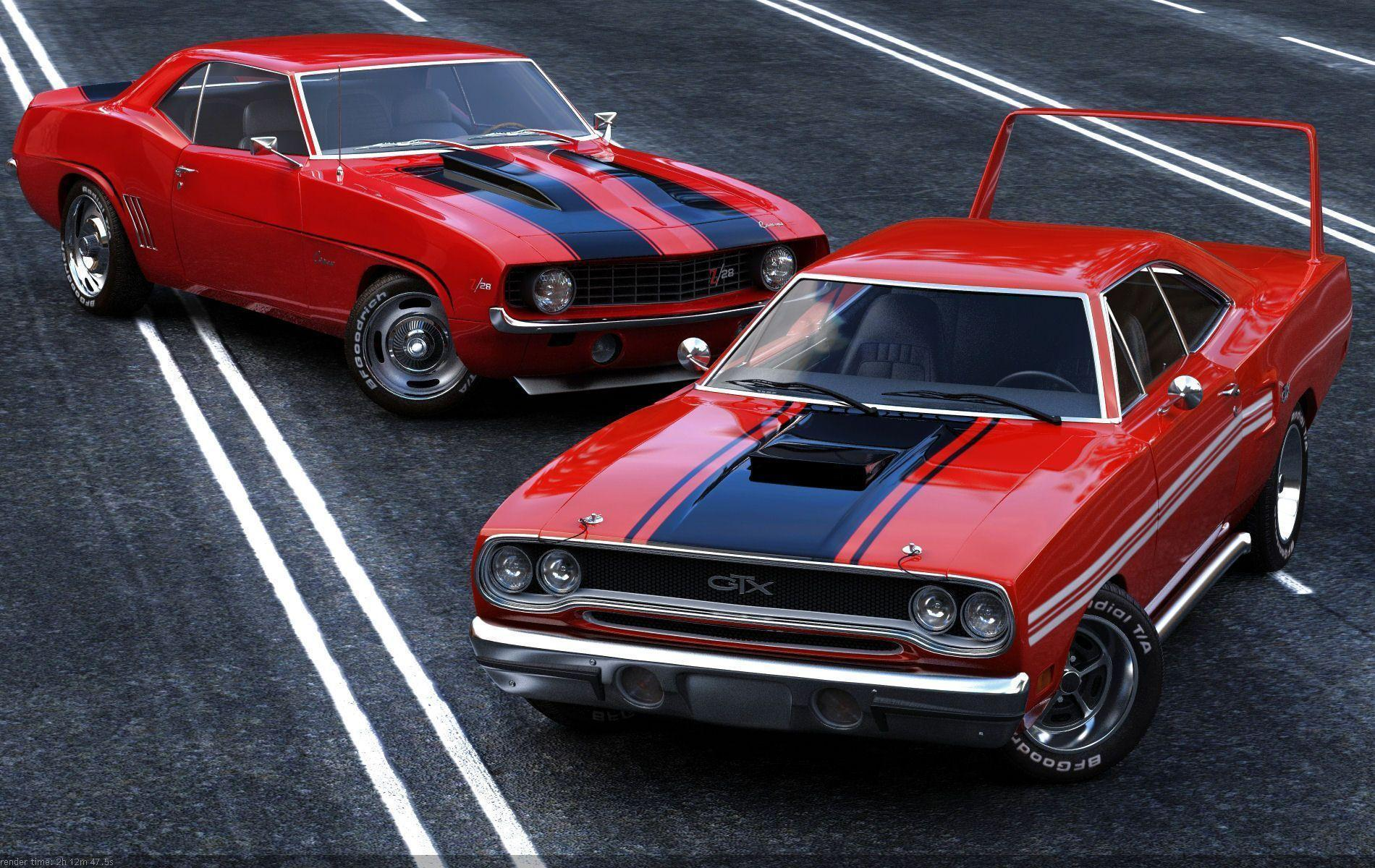 Classic Muscle Cars Wallpapers - Wallpaper Cave