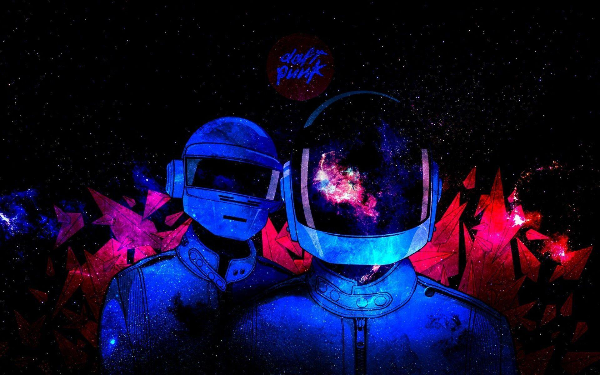 Outer Space Daft Punk Electronic Wallpaper Wide or HD | Artistic ...