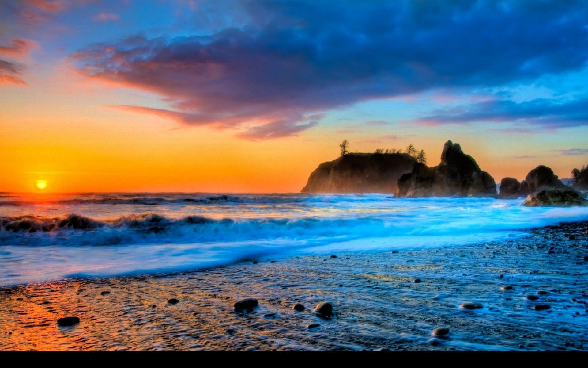 sunset beaches wallpapers wallpaper cave
