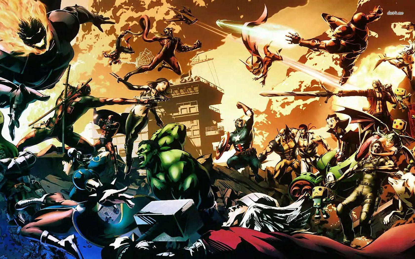 Pix For > Marvel Vs Capcom Wallpapers