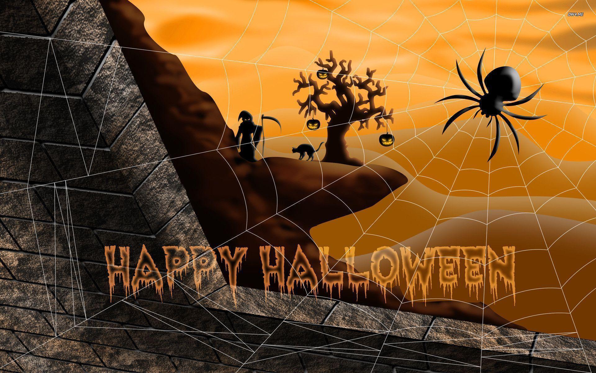 Happy halloween desktop wallpapers wallpaper cave - Free widescreen halloween wallpaper ...